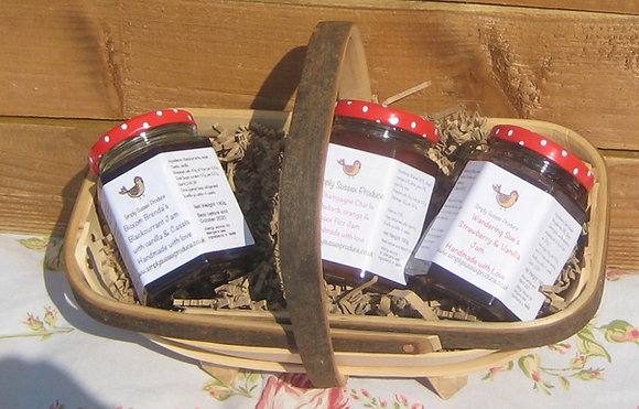 Small selection of preserves hamper