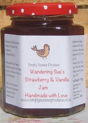 Wandering Sue's Strawberry & vanilla  Jam
