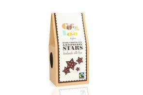 Dark chocolate & raspberry stars