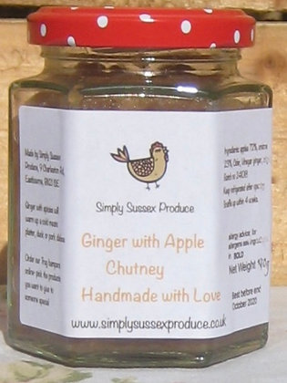 Ginger & apple chutney