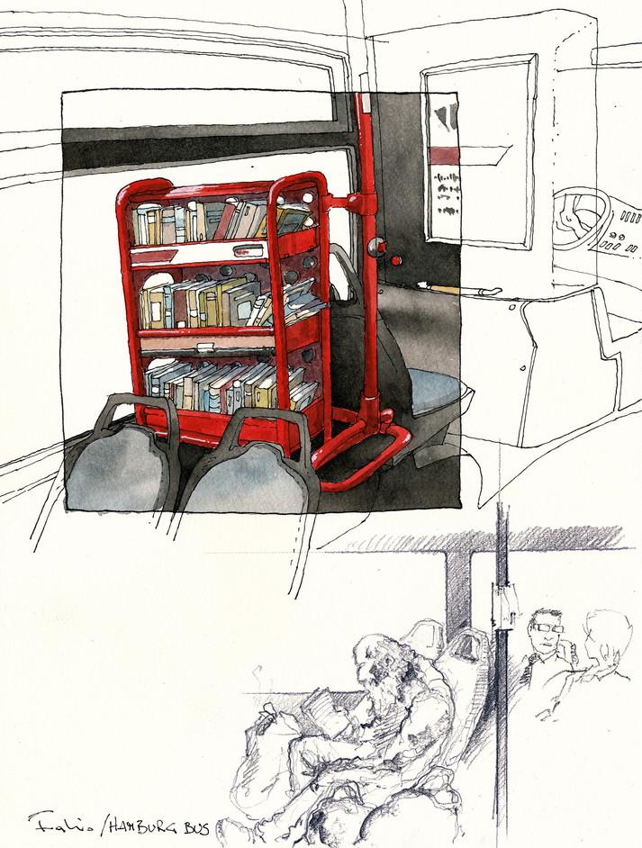 Hamburg _ Bus Library #1