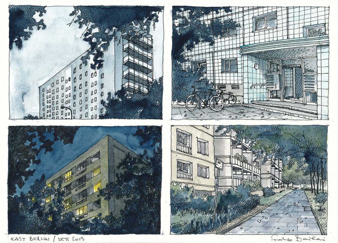 East Berlin - Sketches