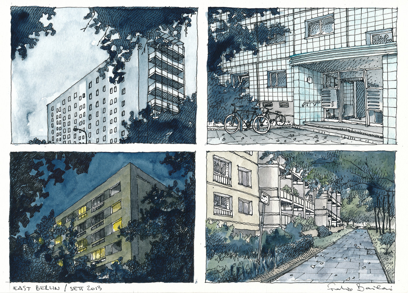 East Berlin - Sketches