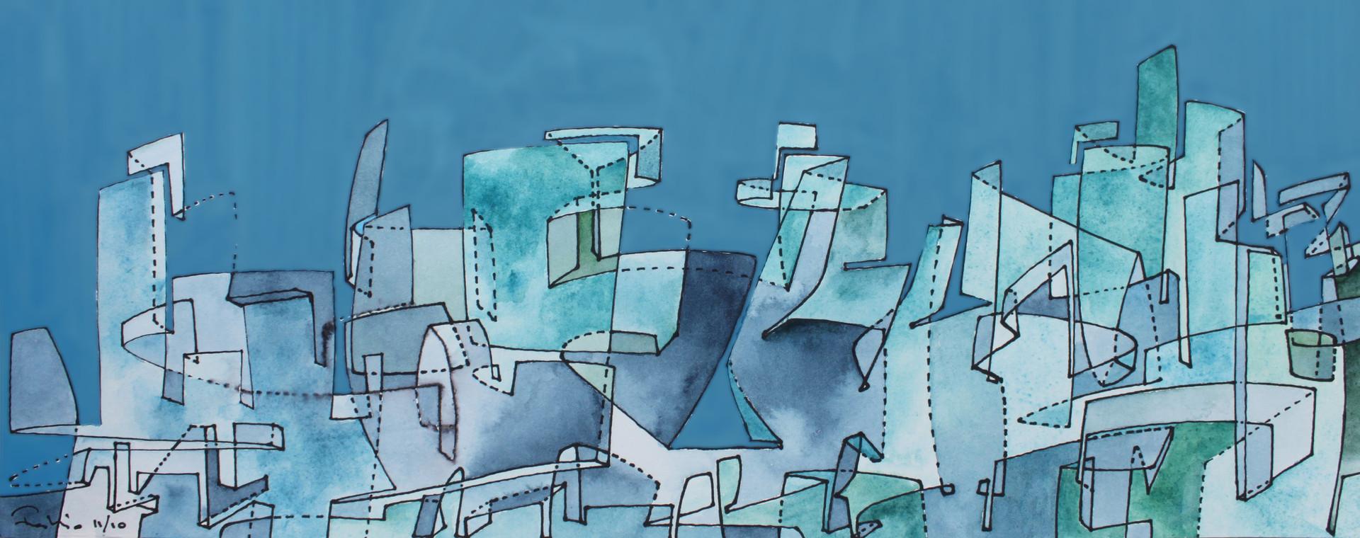 Glass Cityscape