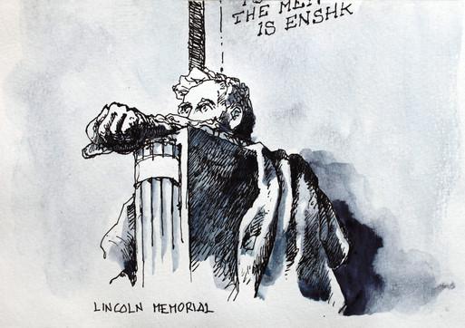 Waxhington _ Lincoln Memorial