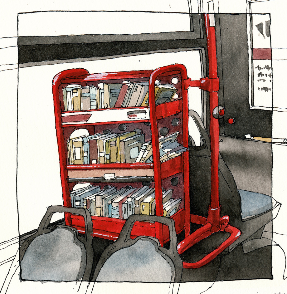 Hamburg _ Bus Library #2