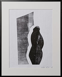 '' Nude with shadow'', estamp, handprint