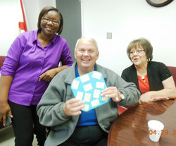 Ron Ginger and Catina w Post-it gift11.JPG