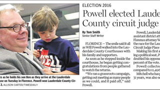 Congratulations to Judge-Elect Will Powell - Week of Nov. 7, 2016