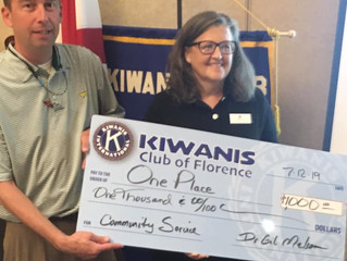 Kiwanis Supports One Place