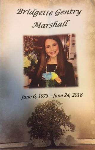 In Memory of Bridgette Marshall