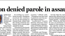 Thompson Parole Denied