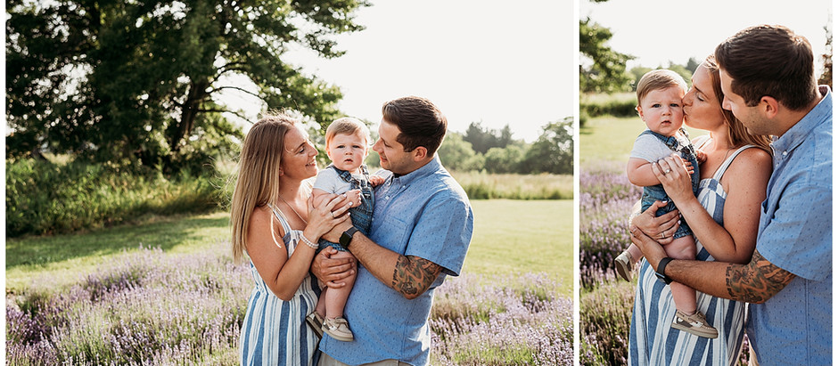 Hamilton Family Photographer - Lavender Farm Mini Sessions