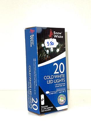 20 Cold White LED Lights