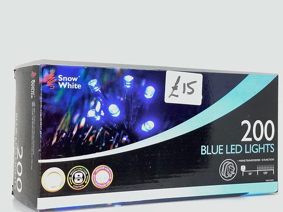 200 Blue LED Lights