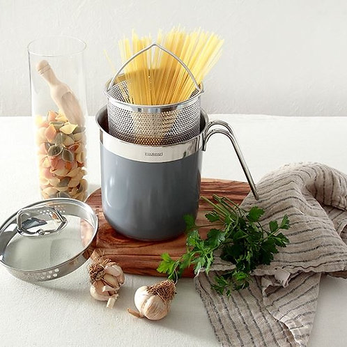 Stainless Steel 3-layer Pasta Pot- Grey Model