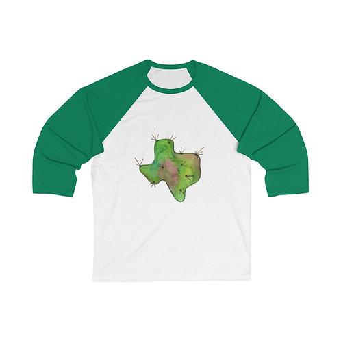 Texas Cactus Unisex 3/4 Sleeve Baseball Tee