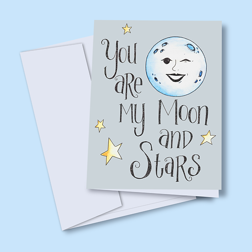 Moon and Stars Notecards