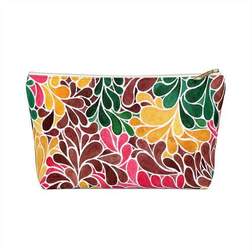 Autumn Teardrops Accessory Pouch, Makeup Bag, Pencil Bag, Zippered Pouch