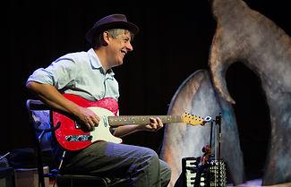 Thomas Johnson, Theatre Alibi, Michael Morpurgo, I Believe in Unicorns, electric guitar