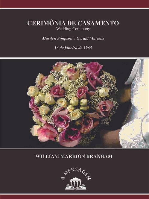 Livro - Mensagem Cerimônia de Casamento 65-0116 -  Branham
