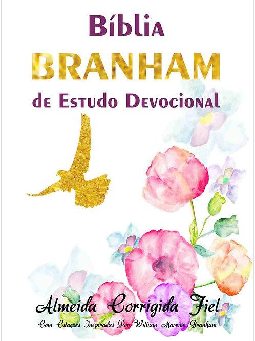 Bíblia Branham de Estudo Devocional Capa Brochura - Flores