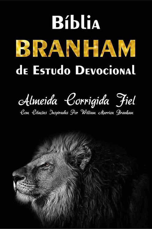 Bíblia Branham de Estudo Devocional Capa Brochura - Leão