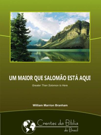 Livro - Mensagem Um Maior que Salomão Está Aqui 63-0605  - Branham