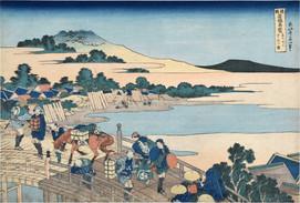 Wondrous Views of Famous Bridges in All the Provinces: Fukui Bridge in Echizen Province