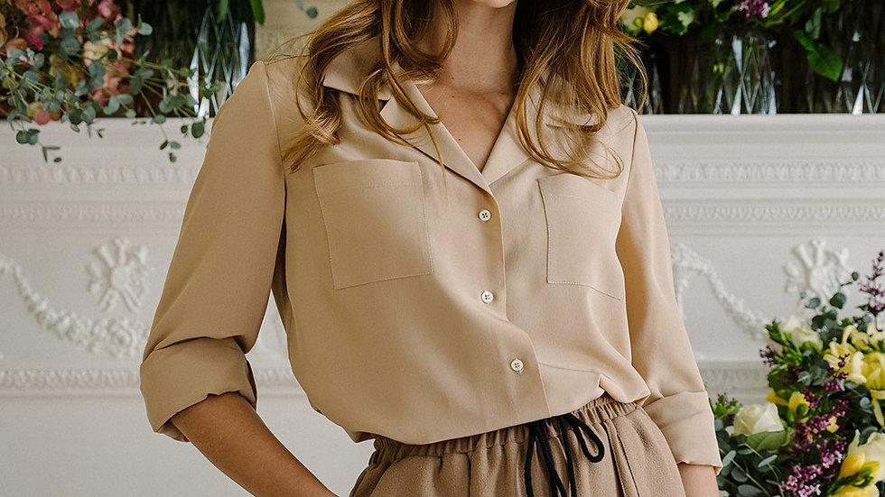 Crepe De Chine Shirt - Plain Colours