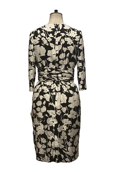 Black and White Silk Dress