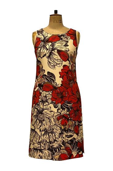 Silk Cady Shift Dress