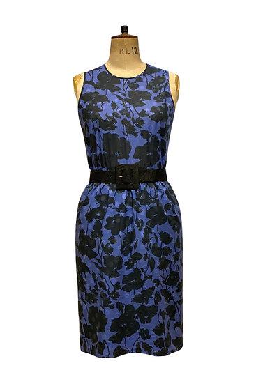 Blue and Black Silk Dress