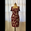Thumbnail: Red and silver brocade dress