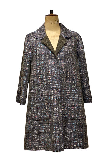 Double Faced Print Coat