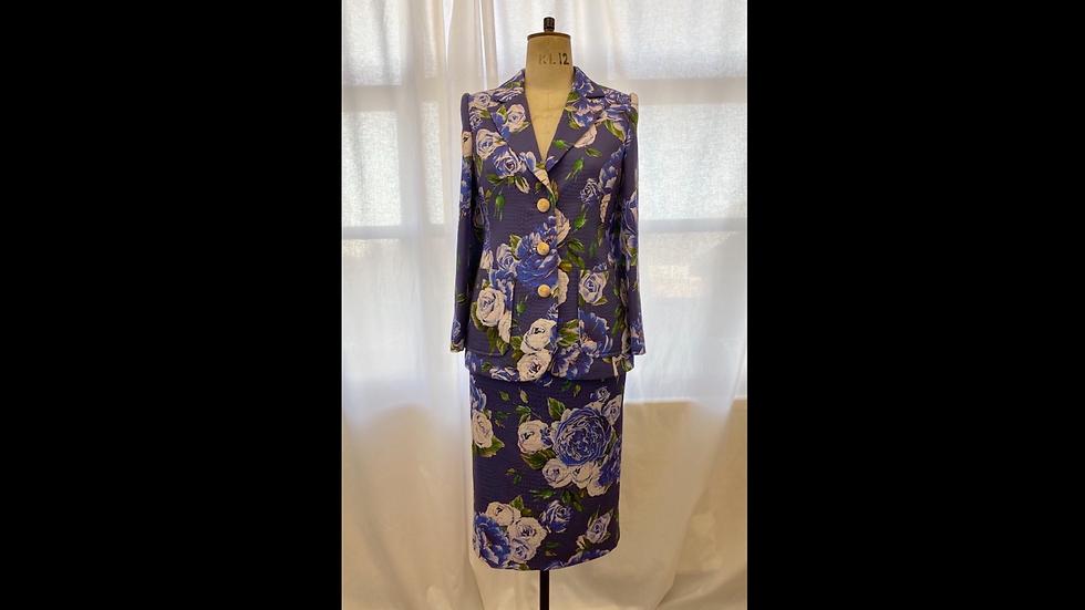 Blue Floral Cotton Jacket