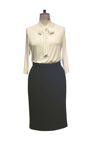 Jersey Top and Wool Skirt