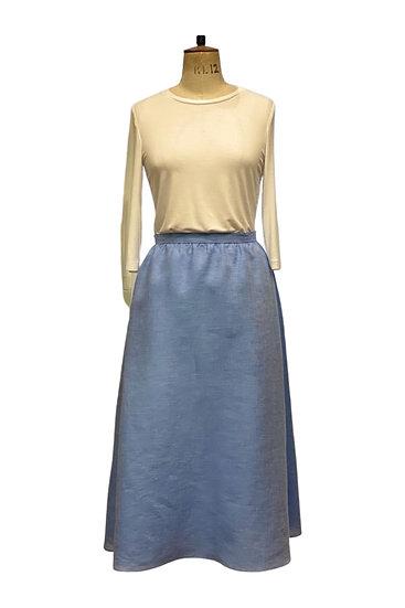 Blue Cotton Skirt