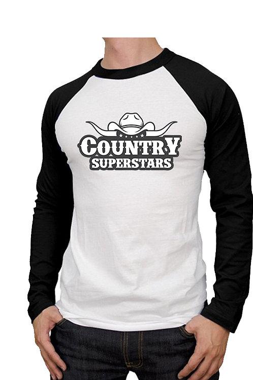 Mens County Superstars Baseball Shirts