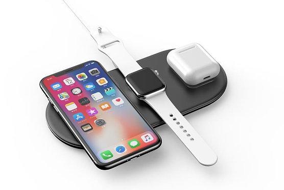 CARREGADOR WIRELESS 3 em 1 BASEUS, iPhone, AirPods, Apple Watch