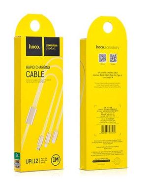 CABO USB 1M (LIGHT/MICRO/TYPE-C) HOCO UPL12