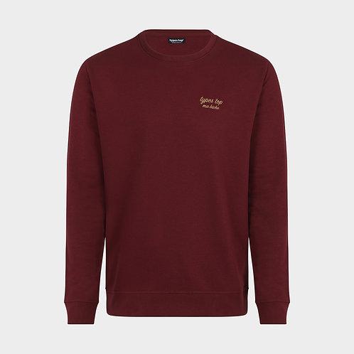 Sweat-shirt brodé | Bordeaux