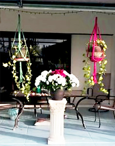 Macrame Plant Hangers On The Patio
