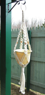 Outdoor Macrame Plant Hanger WIth Beads