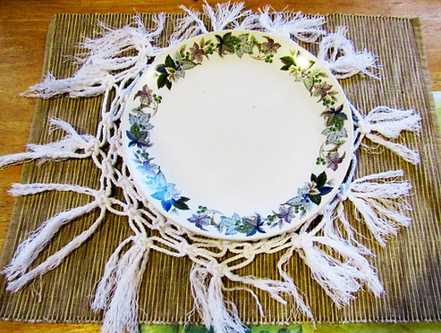 Macrame Wedding Decor Plate Chargers