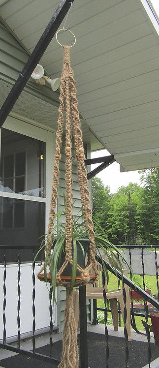 Six Foot Natural Jute Macrame Plant Hanger