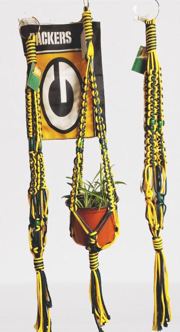 Green & Gold Indoor-Outdoor Plant Hangers