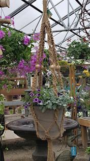 Large Outdoor Beaded Macrame Plant Hanger