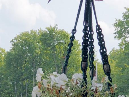Hummingbirds Love Macrame Plant Hangers