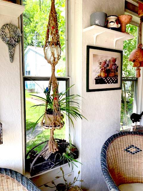Double Basket Boho-Chic Style Natural Jute Macrame Boho Plant Hangers